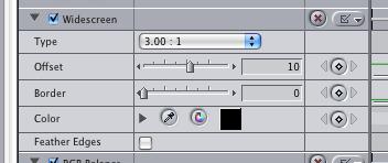 Widescreen Options in Final Cut Pro